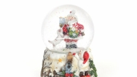 Водяной шар Музыкальный Дед Мороз с подарками