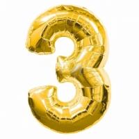 Воздушный шарик цифра 3