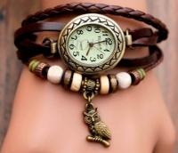 Женские классические часы CL Owl Brown